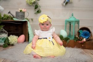 calista babys first easter photo